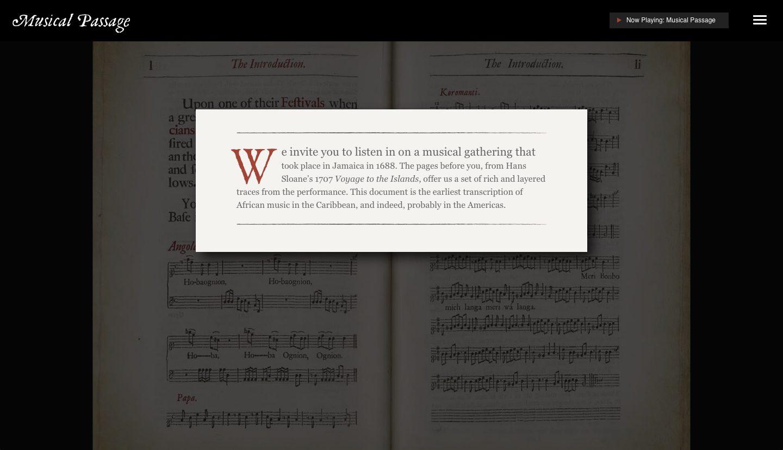 Musical Passage Website