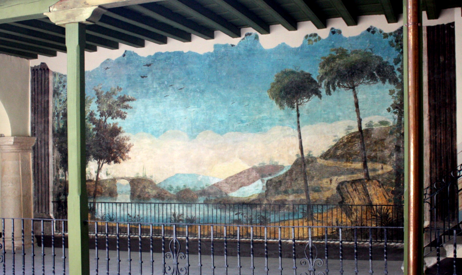 Unidentified artist, detail, Calle Amargura 65, early 19th c., fresco or semi-fresco[?]