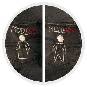 She Wears the Pants - Modest Modern